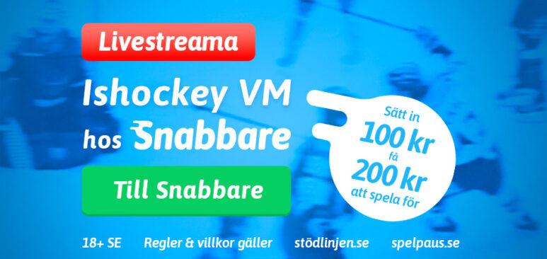 Livestreama Ishockey VM hos Snabbare